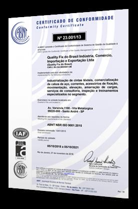 Quality Fix - Certificado de Conformidade