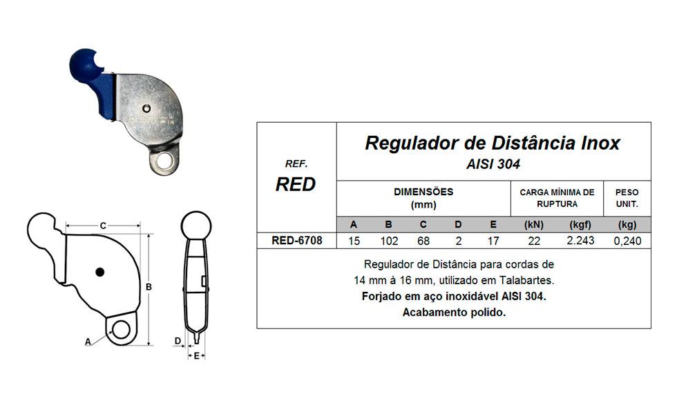 Regulador de Distância Inox - Quality Fix