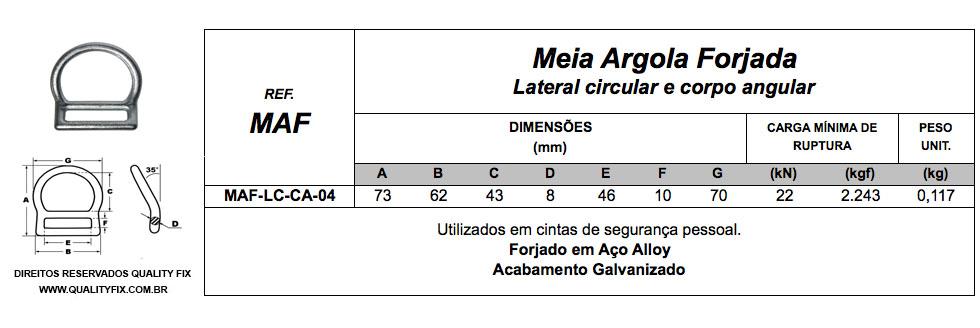 Meia Argola Lateral Circular e Corpo Angular