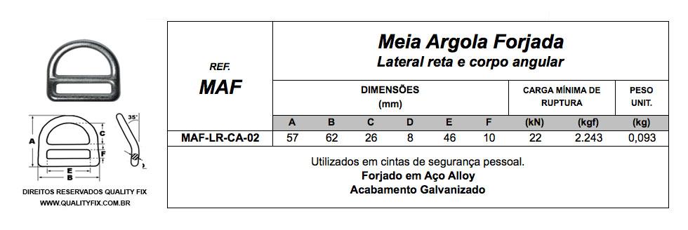 Meia Argola Lateral Reta Corpo Angular