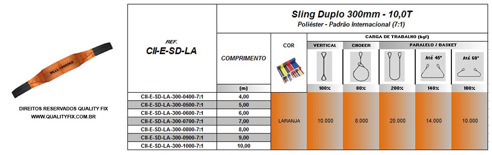 Cinta Sling Duplo 300mm