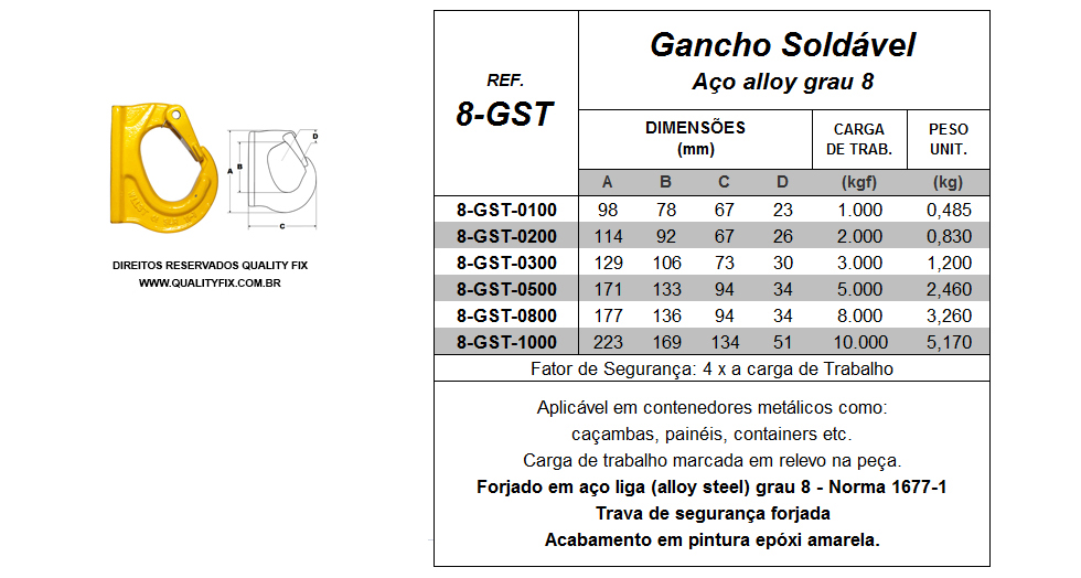 Gancho Soldável