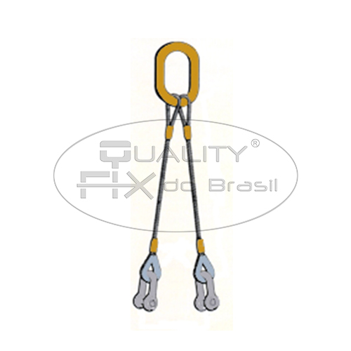 Linga de Cabo de Aço 2 Pernas com Manilhas - Quality Fix