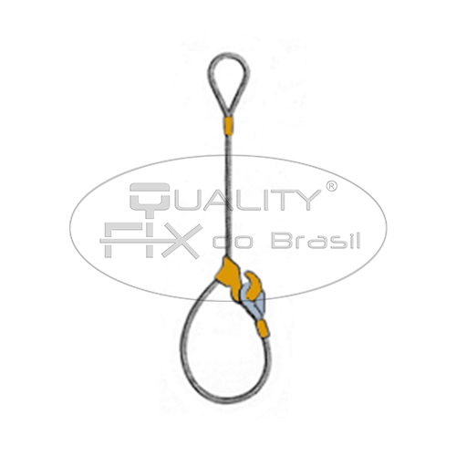 Lingas de Cabo de Aço com Gancho Corrediço e Presilhas - Quality Fix