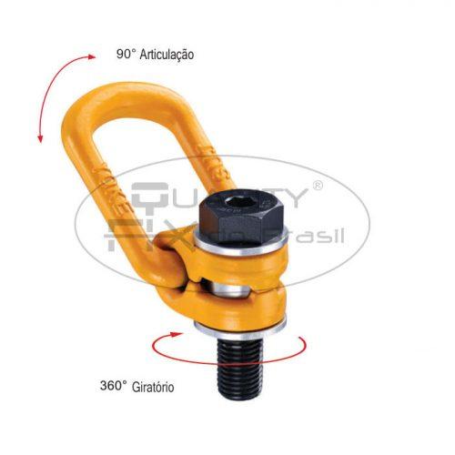 Olhal de Suspensão YP-8-211 Aparafusável Giratório 360° Articulável 90° - Quality Fix