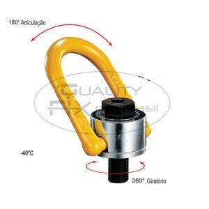 Olhal de Suspensão YP-8-231 Aparafusável com Rolamento Giratório 360° Articulável 180° - Quality Fix