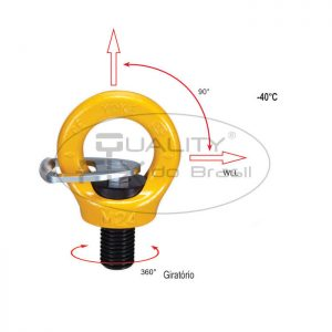 Olhal de Suspensão YP-8-291K Aparafusável Giratório 360° - Quality Fix